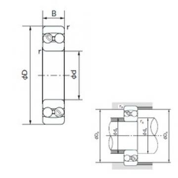 20 mm x 47 mm x 18 mm  NACHI 2204 self aligning ball bearings