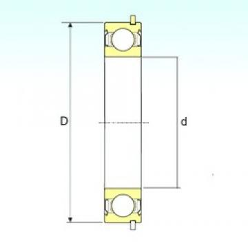 17 mm x 47 mm x 14 mm  ISB 6303-ZZNR deep groove ball bearings