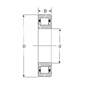 90 mm x 190 mm x 64 mm  SIGMA NJ 2318 cylindrical roller bearings