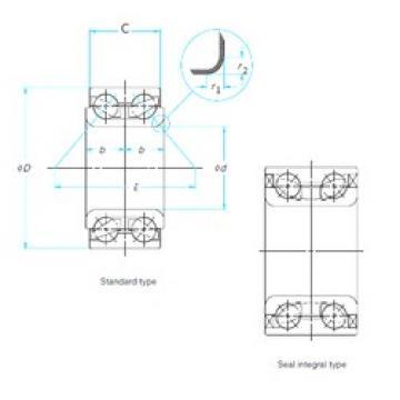 40 mm x 80 mm x 30,2 mm  CYSD DAC40800302 angular contact ball bearings