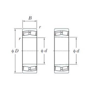 90 mm x 190 mm x 64 mm  KOYO 22318RHRK spherical roller bearings