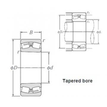 90 mm x 190 mm x 64 mm  NTN 22318BK spherical roller bearings