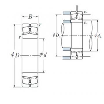 90 mm x 190 mm x 64 mm  NSK 22318EAE4 spherical roller bearings