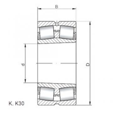 240 mm x 500 mm x 155 mm  Loyal 22348 KCW33 spherical roller bearings