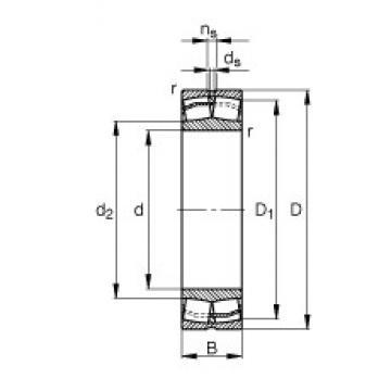 90 mm x 190 mm x 64 mm  FAG 22318-E1-T41D spherical roller bearings