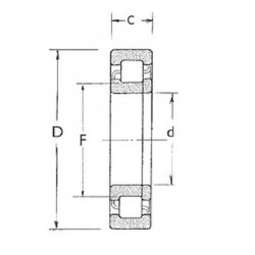 90 mm x 190 mm x 64 mm  FBJ NUP2318 cylindrical roller bearings