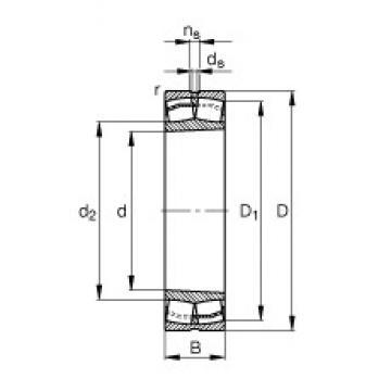 90 mm x 190 mm x 64 mm  FAG 22318-E1-K spherical roller bearings