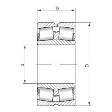 90 mm x 190 mm x 64 mm  ISO 22318W33 spherical roller bearings