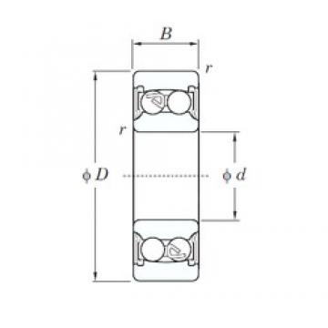 20 mm x 47 mm x 18 mm  KOYO 2204-2RS self aligning ball bearings