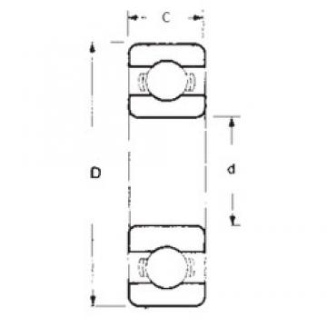 25 mm x 37 mm x 7 mm  FBJ 6805 deep groove ball bearings