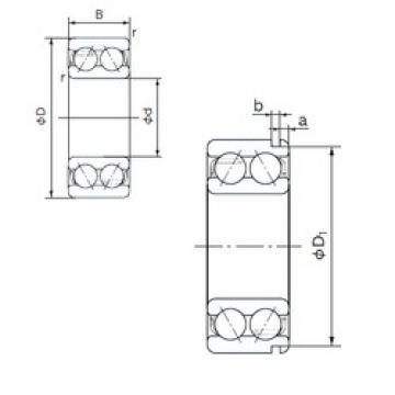40 mm x 80 mm x 30.2 mm  NACHI 5208N angular contact ball bearings