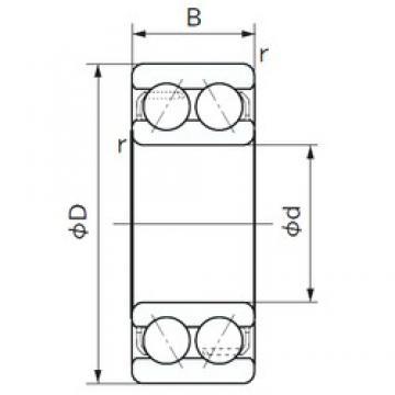 40 mm x 80 mm x 30.2 mm  NACHI 5208 angular contact ball bearings