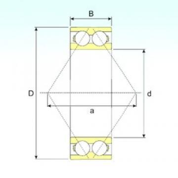 40 mm x 80 mm x 30,2 mm  ISB 3208 A angular contact ball bearings