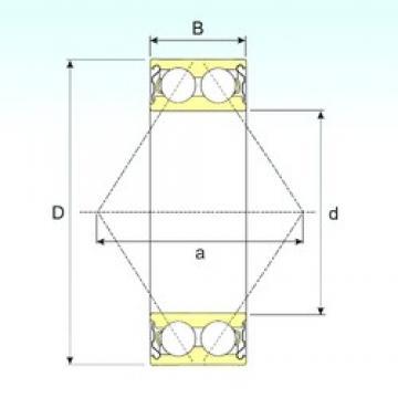 40 mm x 80 mm x 30,2 mm  ISB 3208-ZZ angular contact ball bearings
