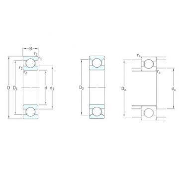 10 mm x 35 mm x 11 mm  SKF 6300 deep groove ball bearings