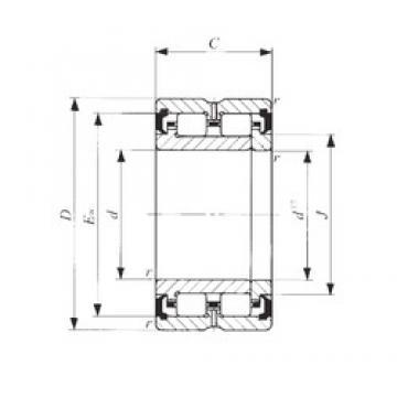 120 mm x 165 mm x 45 mm  IKO NAU 4924UU cylindrical roller bearings