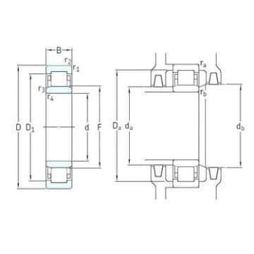 130 mm x 200 mm x 33 mm  SKF NU1026ML/C3VL2071 cylindrical roller bearings