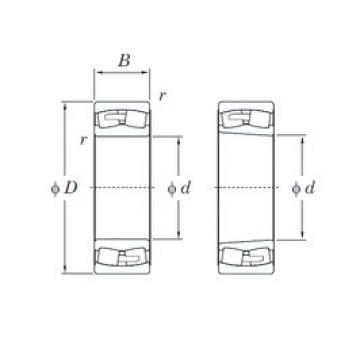 260 mm x 480 mm x 130 mm  KOYO 22252RHA spherical roller bearings