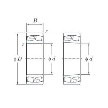 260 mm x 480 mm x 130 mm  KOYO 22252RK spherical roller bearings