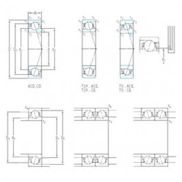 170 mm x 260 mm x 42 mm  SKF 7034 ACD/P4A angular contact ball bearings
