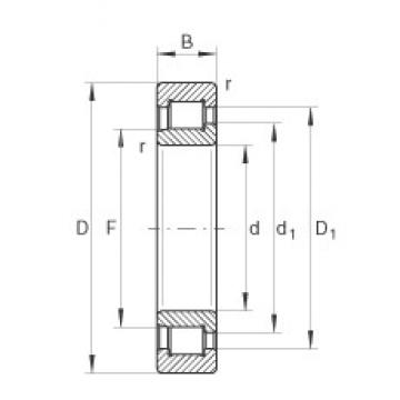 90 mm x 190 mm x 64 mm  INA SL192318-TB cylindrical roller bearings