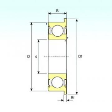 25 mm x 37 mm x 7 mm  ISB F6805ZZ deep groove ball bearings