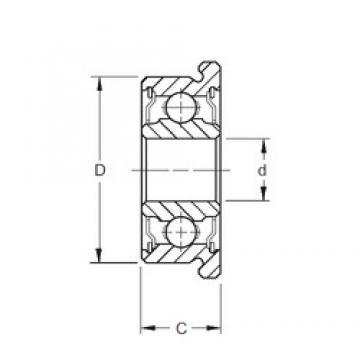 25 mm x 37 mm x 7 mm  ZEN F61805-2RS deep groove ball bearings