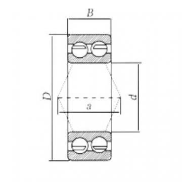 40 mm x 80 mm x 30,2 mm  Loyal 3208ZZ angular contact ball bearings