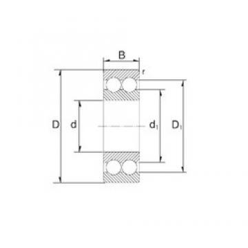 40 mm x 80 mm x 30,2 mm  ZEN 3208 angular contact ball bearings