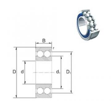 40 mm x 80 mm x 30,2 mm  ZEN 5208-2RS angular contact ball bearings