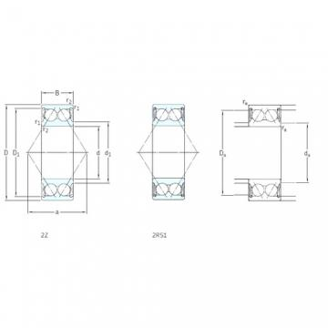 40 mm x 80 mm x 30,2 mm  SKF 3208A-2Z angular contact ball bearings