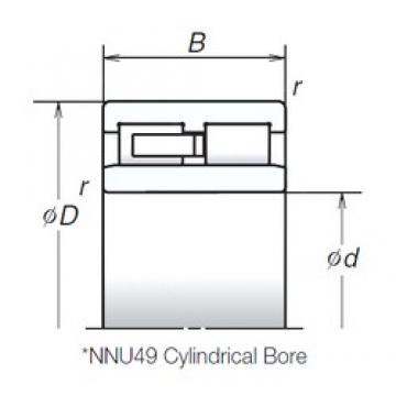 120 mm x 165 mm x 45 mm  NSK NNU4924MB cylindrical roller bearings