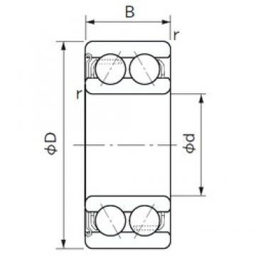 40 mm x 80 mm x 30.2 mm  NACHI 5208AZ angular contact ball bearings