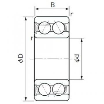 40 mm x 80 mm x 30.2 mm  NACHI 5208ANS angular contact ball bearings
