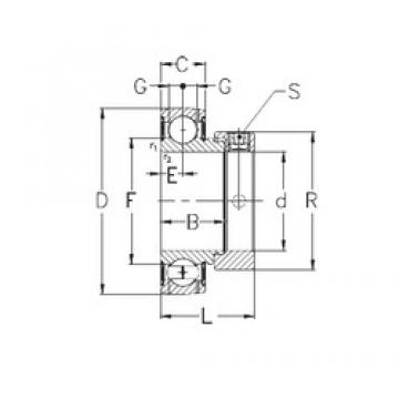 40 mm x 80 mm x 30,2 mm  NKE RAE40-NPPB deep groove ball bearings