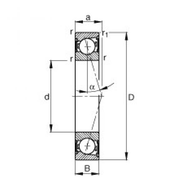 130 mm x 200 mm x 33 mm  FAG B7026-C-2RSD-T-P4S angular contact ball bearings #1 image