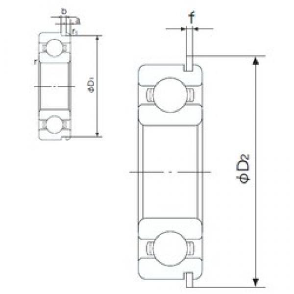10 mm x 35 mm x 11 mm  NACHI 6300NR deep groove ball bearings #1 image